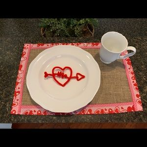 Valentines Day Red Pink Hearts Placemats set of 2